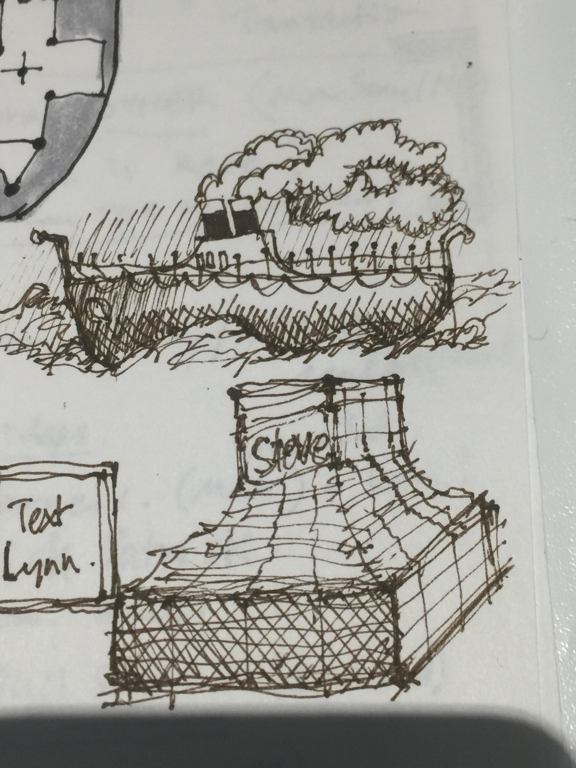 Ship phone doodle