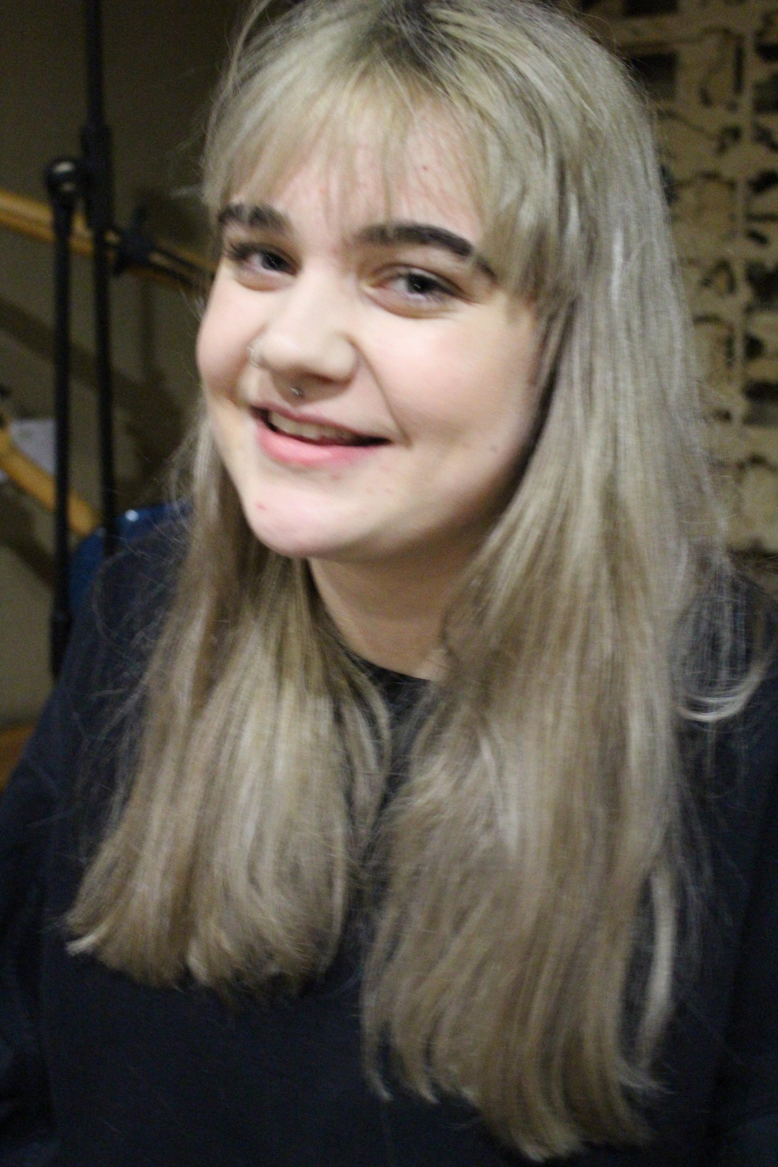 Estelle Varley - Volunteer, Music business student, Drummer, studio booking manager