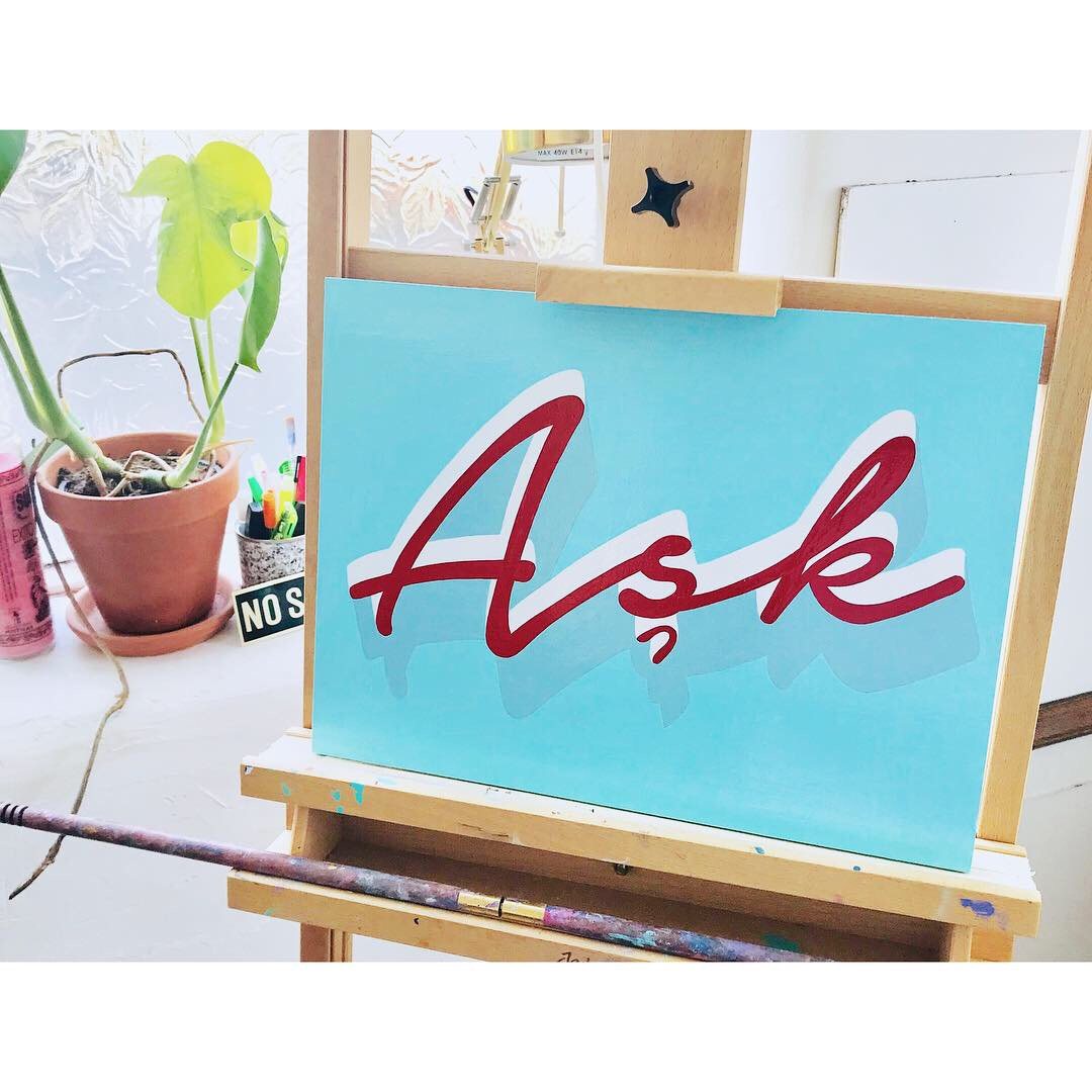Ask (love in Turkish)