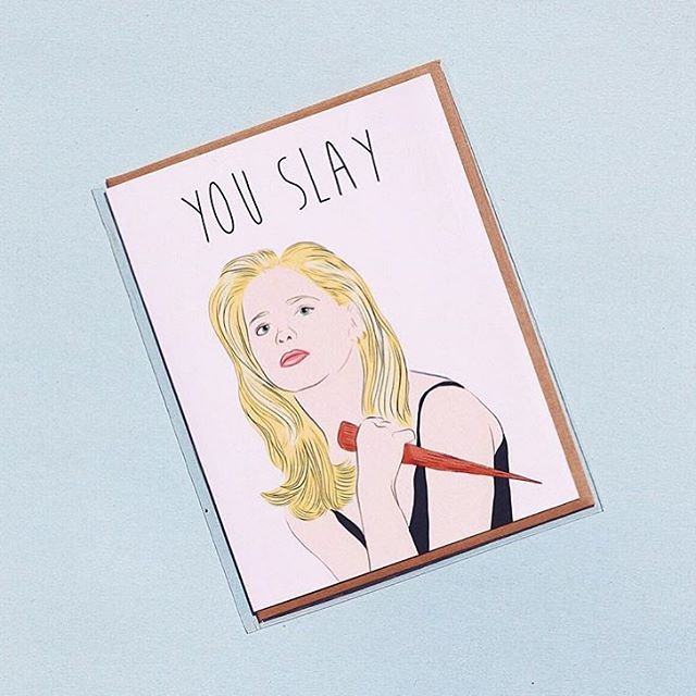To all of the mama's out there! . . . . . Via @partymountainpaper . #mothersday #youslay #btvs #slaylikebuffy #papergoods #madeincanada #madeintoronto #yyz #dundaswest #duwest #rosecitygoods #weloveourvendors