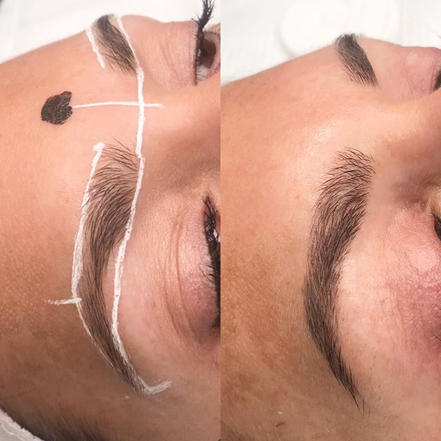 This is how the color retention should look after healing (5-8 weeks) after the first session of #microblading 😍 Now she's ready for her touch up and on her way to waterproof brows. #dermaglamskinlab #browshaping #brows #waterproofbrows #semipermanent