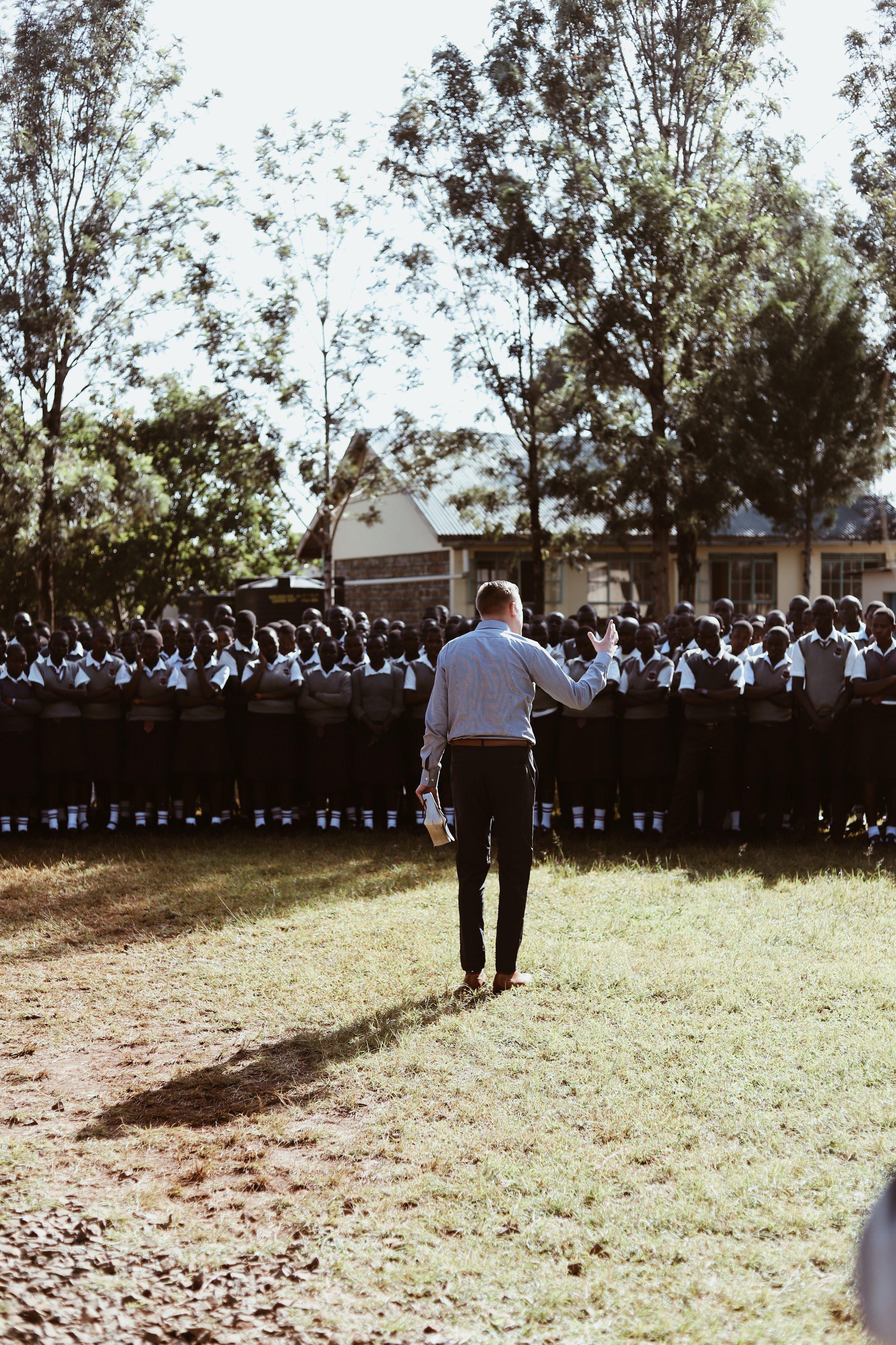 Preaching at HS.JPG