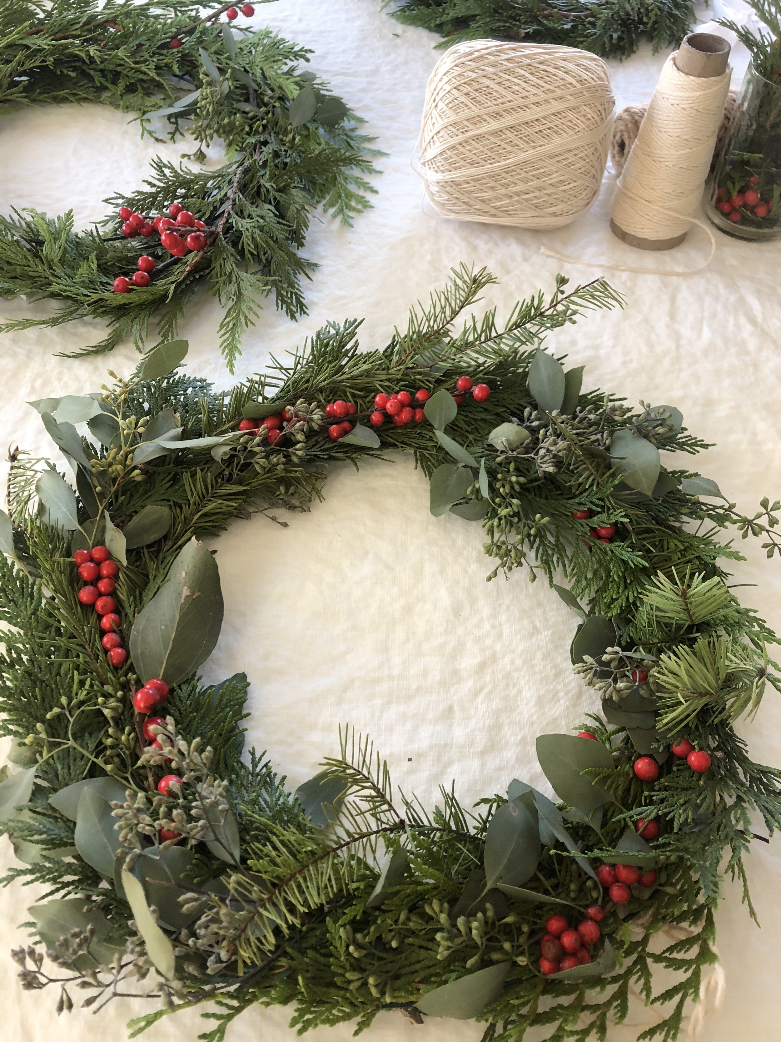 a few wreaths completed!