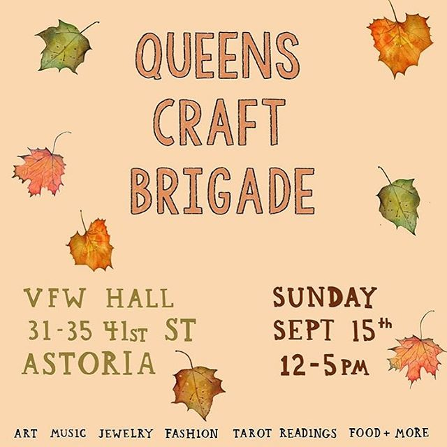 Can't wait for the Queens Craft Brigade this weekend! Working on some new fall inspired earrings 🍂🍃!