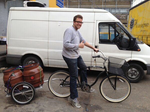 David Brassfield outside the Brüpond brewery in Leyton in 2013