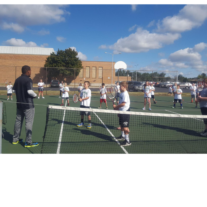 Our tennis pros enjoy their annual visit to local schools.