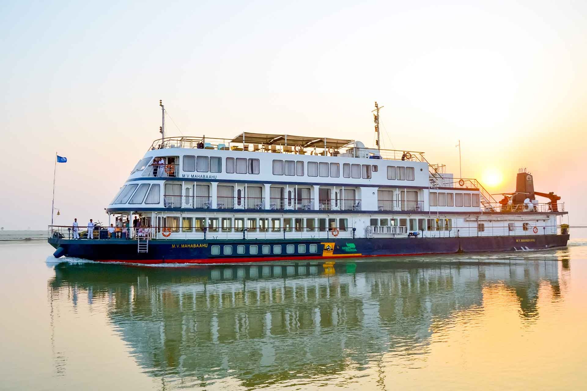 """Glimpses of North West India - The Brahmaputra, which flows through China, India and Bangladesh, truly deserves the accolade """"unique"""". Take a trip from Kolkata aboard MV Mahabaahu. The adventurous trip includes visits to remote villages and temples, to Peacock Island where you can search for golden langur monkeys, and to Kaziranga National Park, home to rhinoceros, Asian elephants and tigers."""