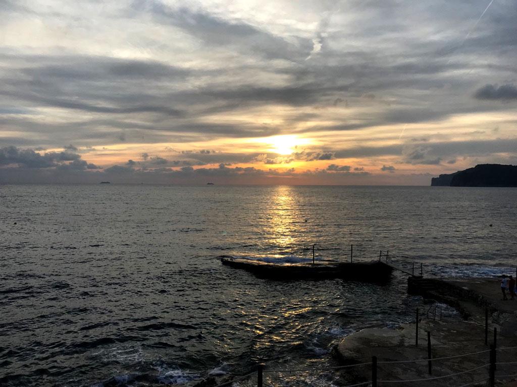 Sonnenuntergang Costa de la Calma im Januar