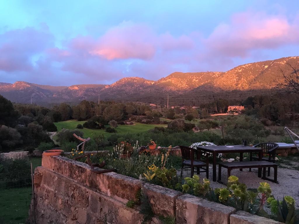 Blick auf die Berge von unserer Finca