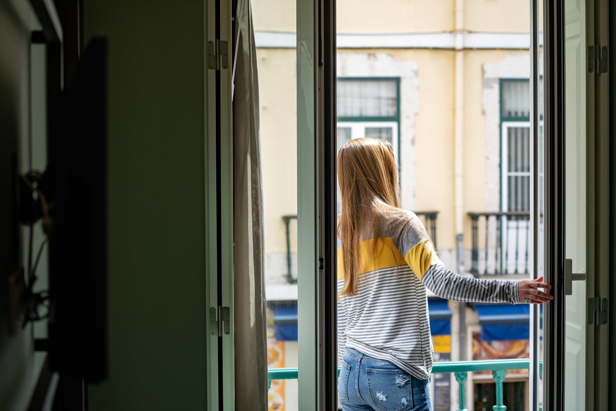 Balcony overlooking Rua Augusta