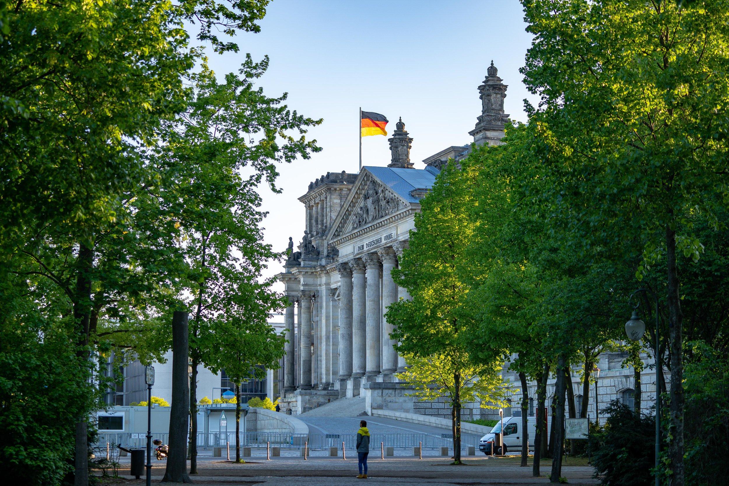 Reichstag Building from Tiergarten Park