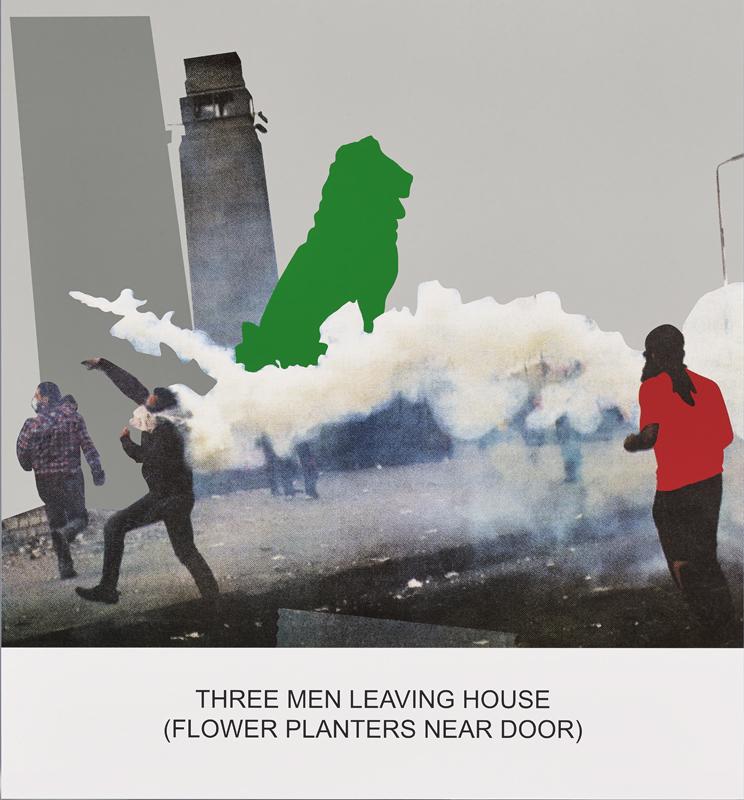 The News: Three Men Leaving House..., 2014