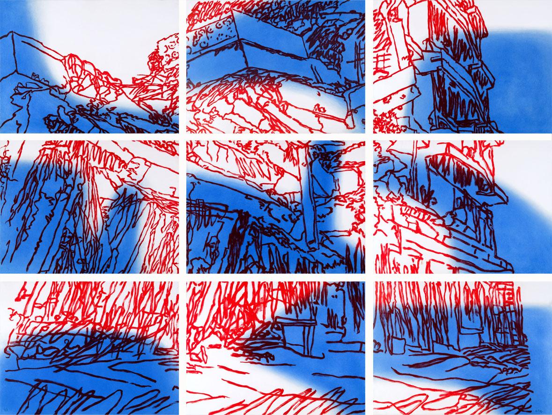 Un día en la vida de AB (azul/rojo)  2004