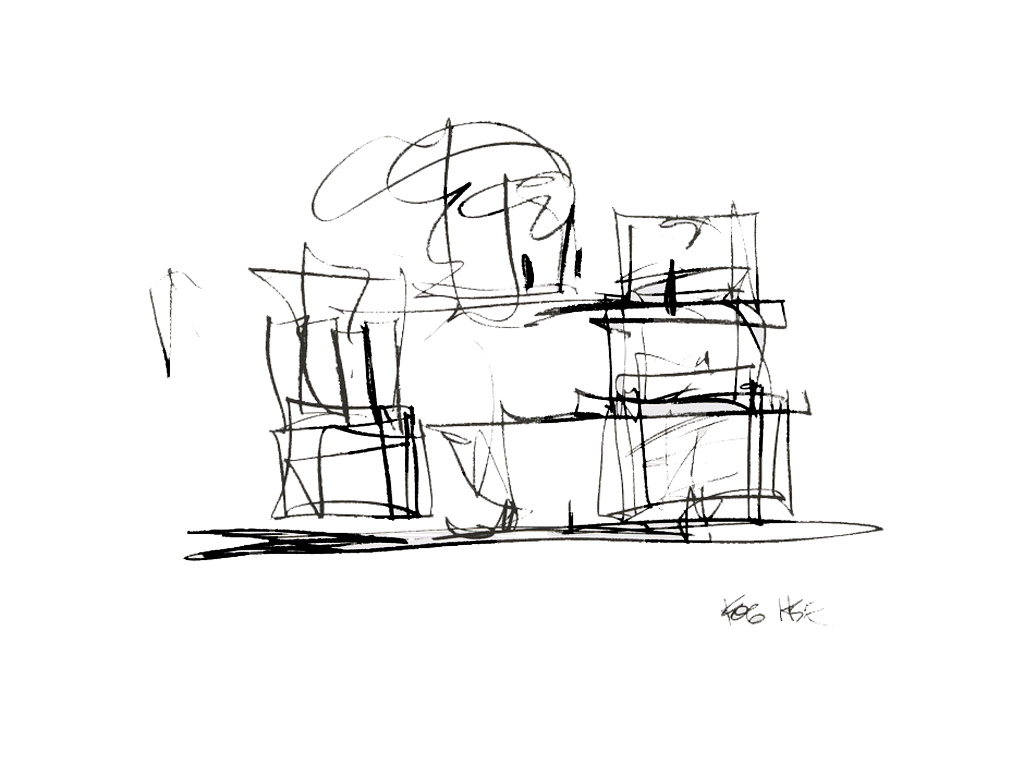 Study for New Frank Gehry House,  2004