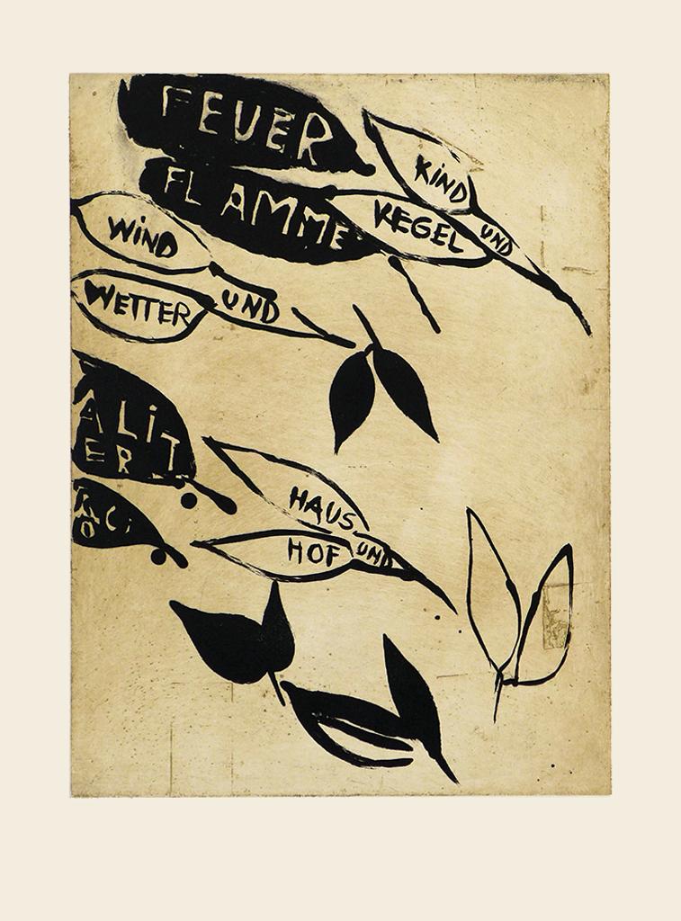 Talking leaves III,  1989