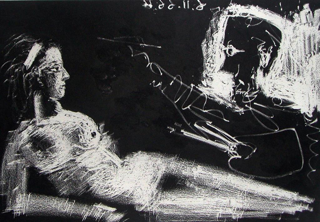 Le peintre el le modèle,  1966
