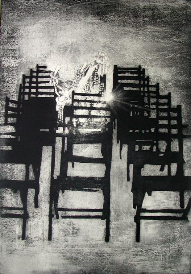 Sillas y lámpara,  2001