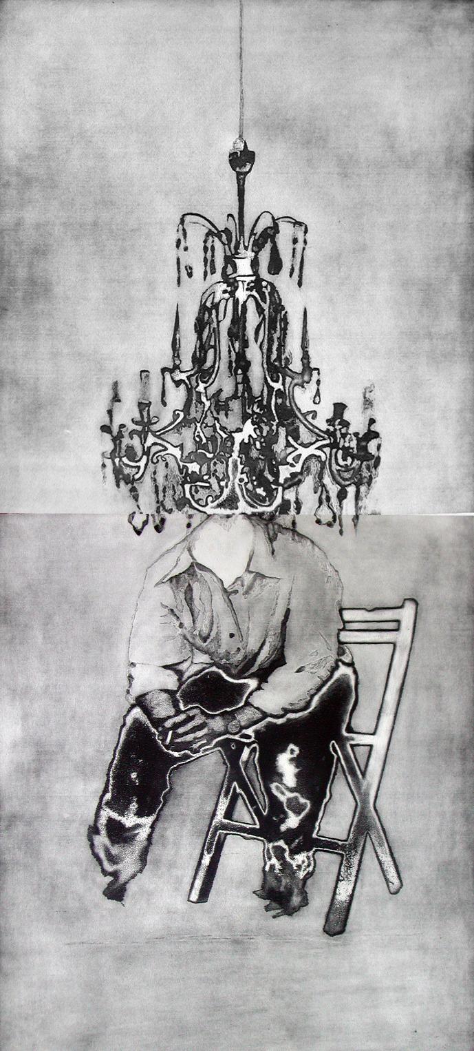 Hombre sentado y lámpara,  2001