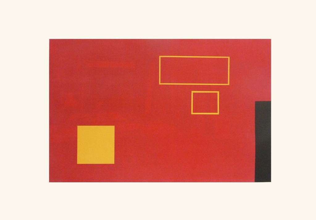 L'atelier rouge. Rojo/caballete,  2009