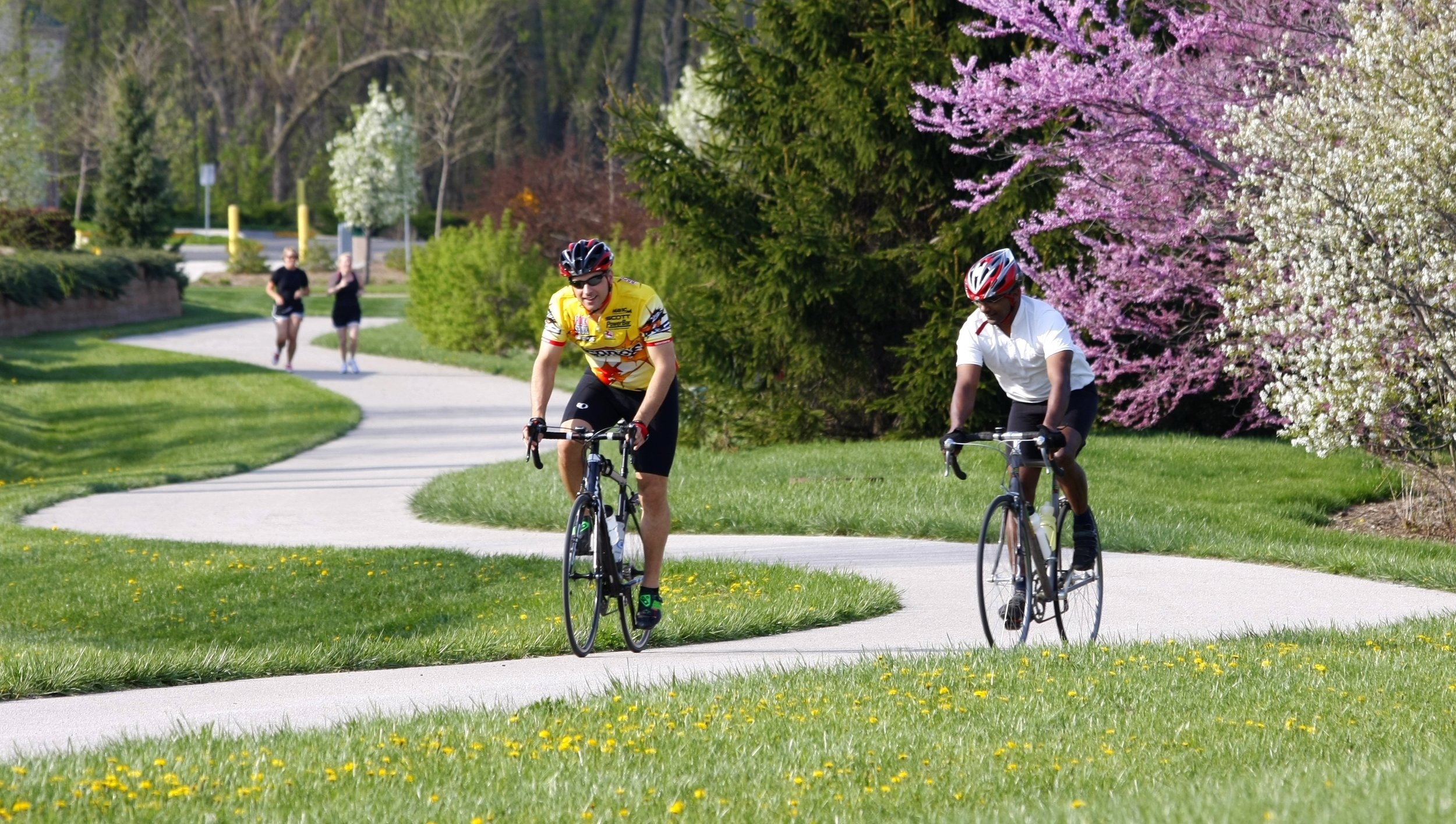 two men Biking on the WL Spring Trail