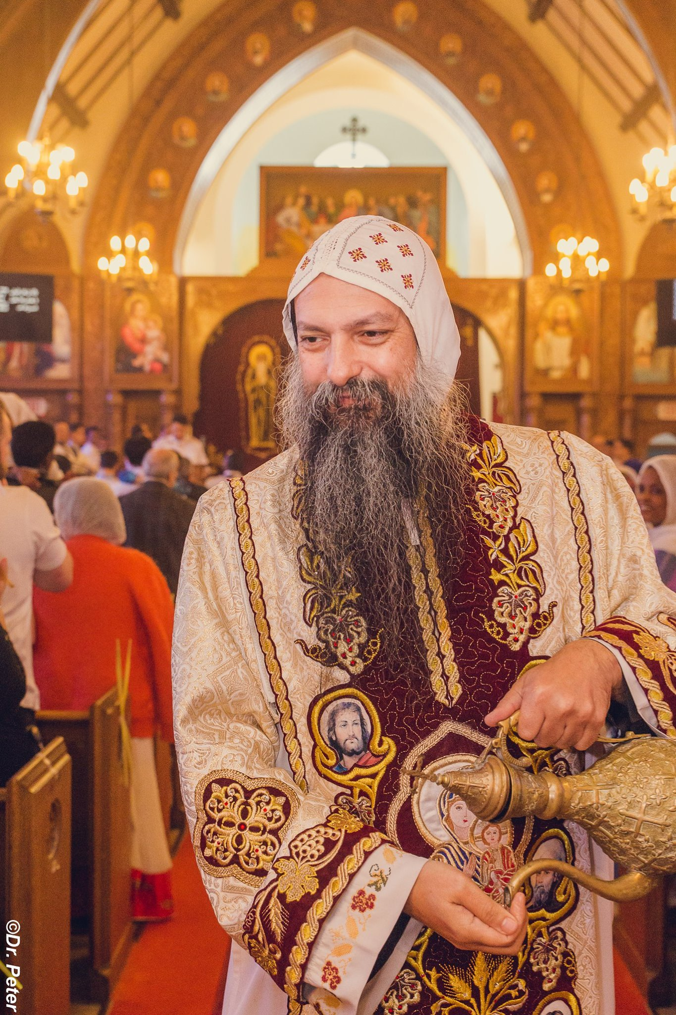 His Grace Bishop David on one of his frequent visits to St.Mary & St.Moses Coptic Orthodox Church