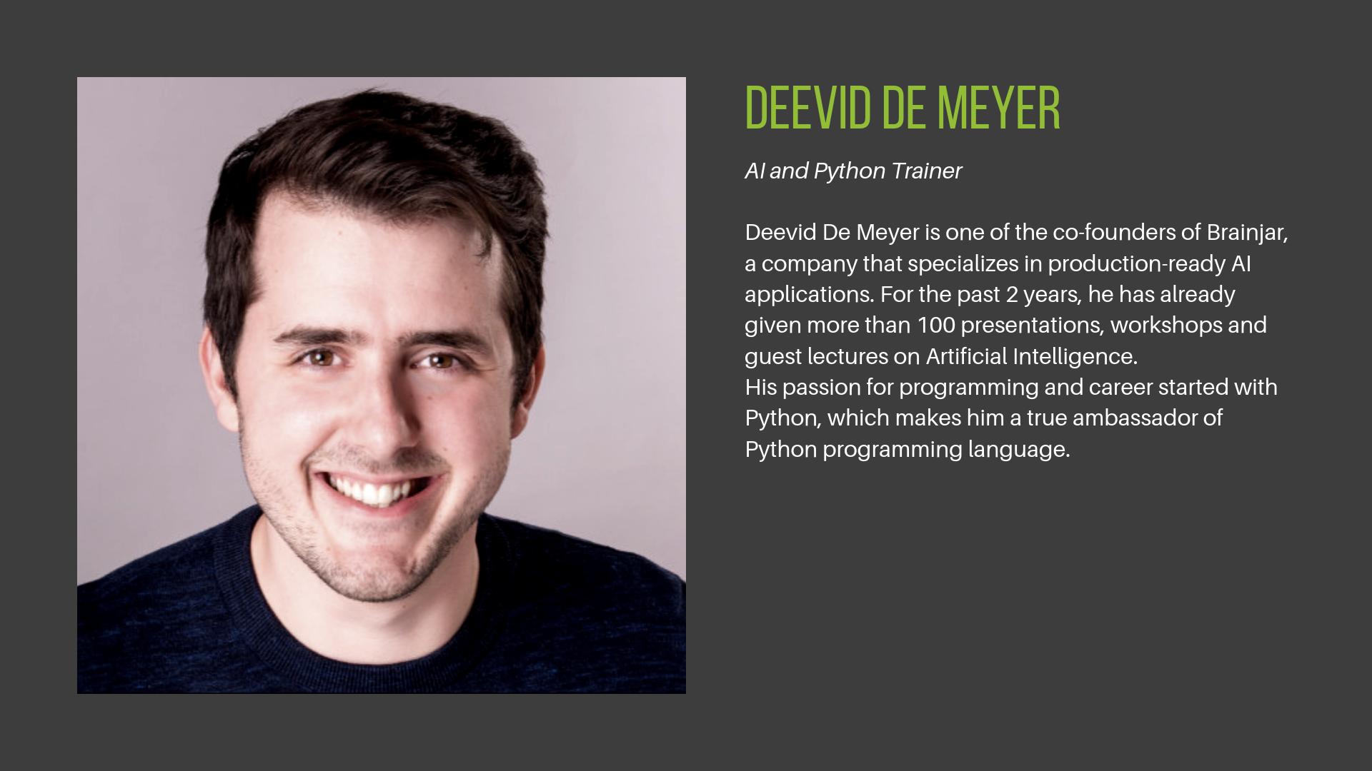 Deevid De Meyer