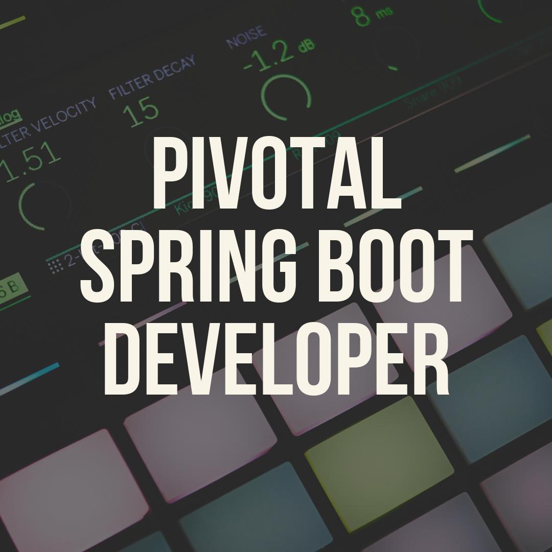 Pivotal Spring Boot Developer Training