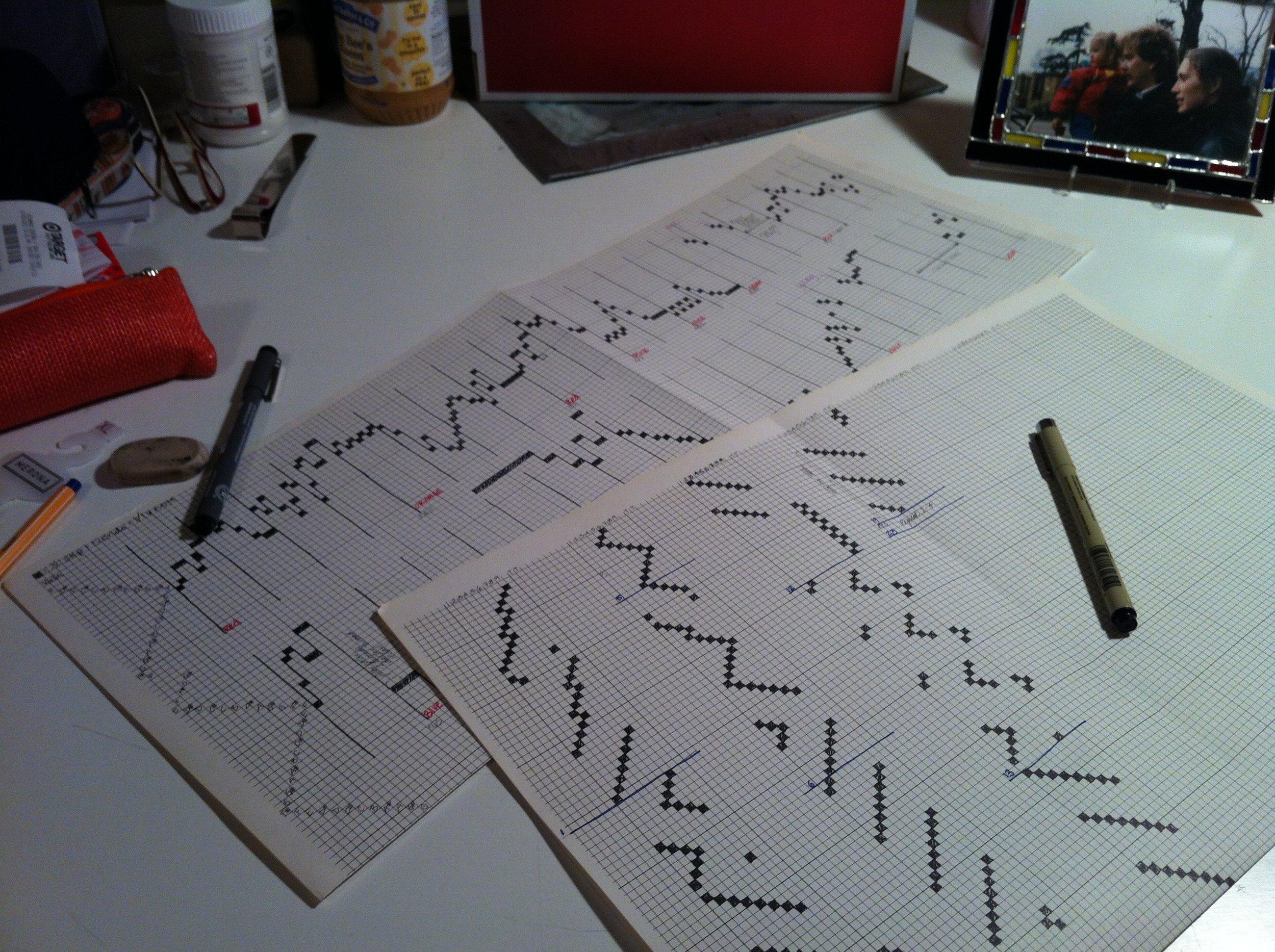Sound + Silk project - pattern draft