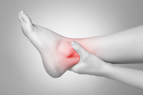 Pain  in the  ankles  and foot can come from joints themselves, or from muscles and tendons around the joints. Osteoarthritis isn't very common in the  ankle  but can be the result of previous damage from an injury or due to inflammatory arthritis.