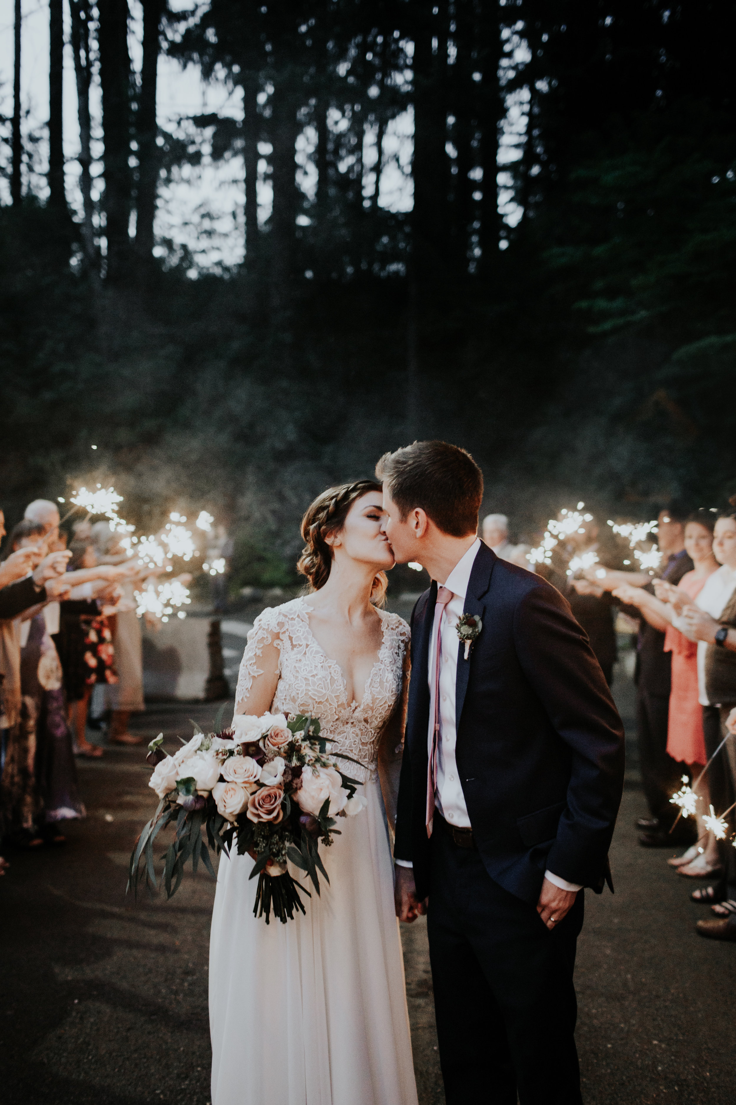 Moody Sparklers Wedding - Ivory and Oak Photography