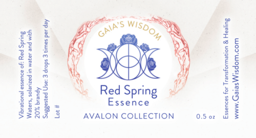 red spring flower essence
