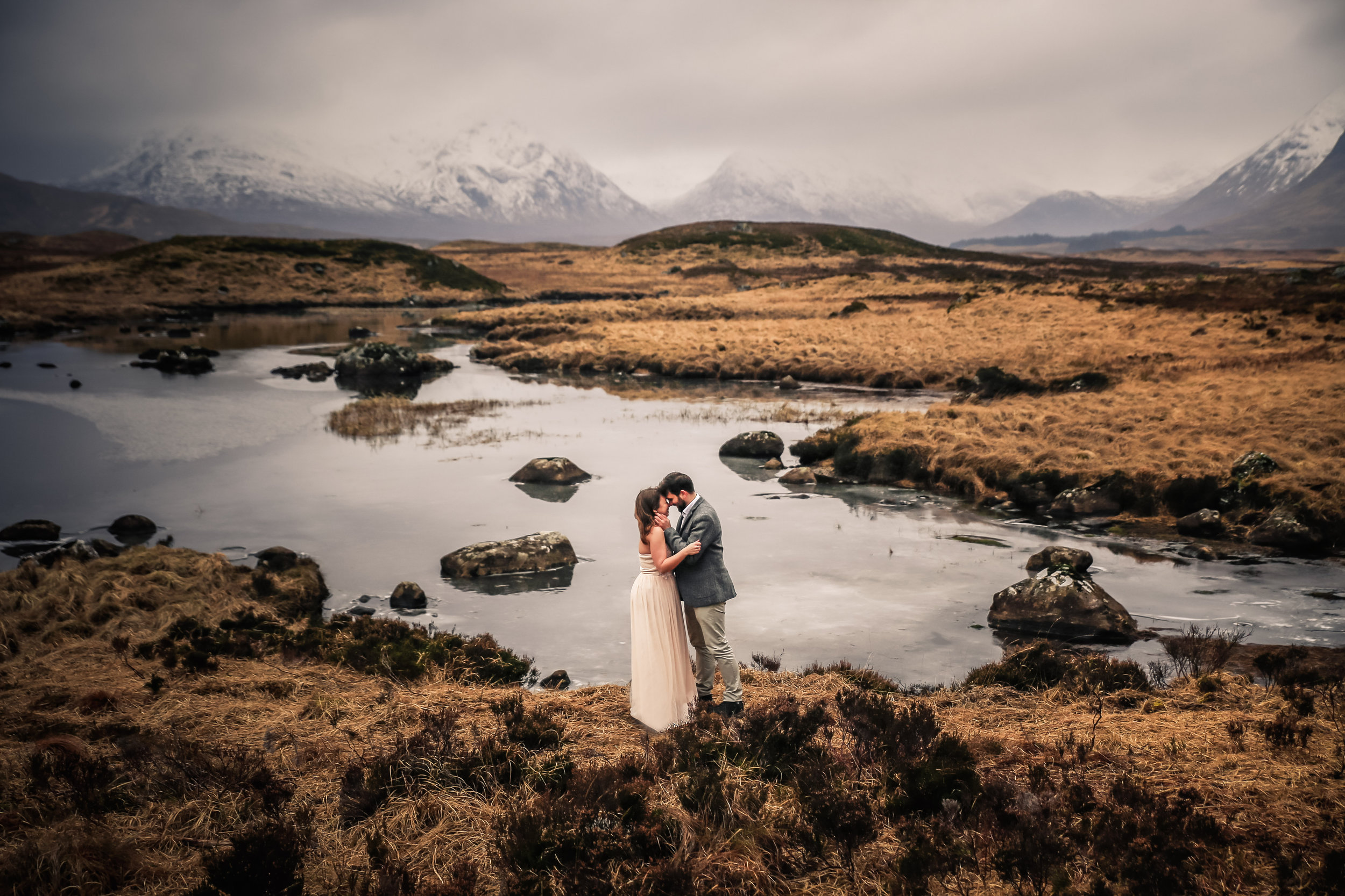 Sophie and Thomas at Rannoch Moor
