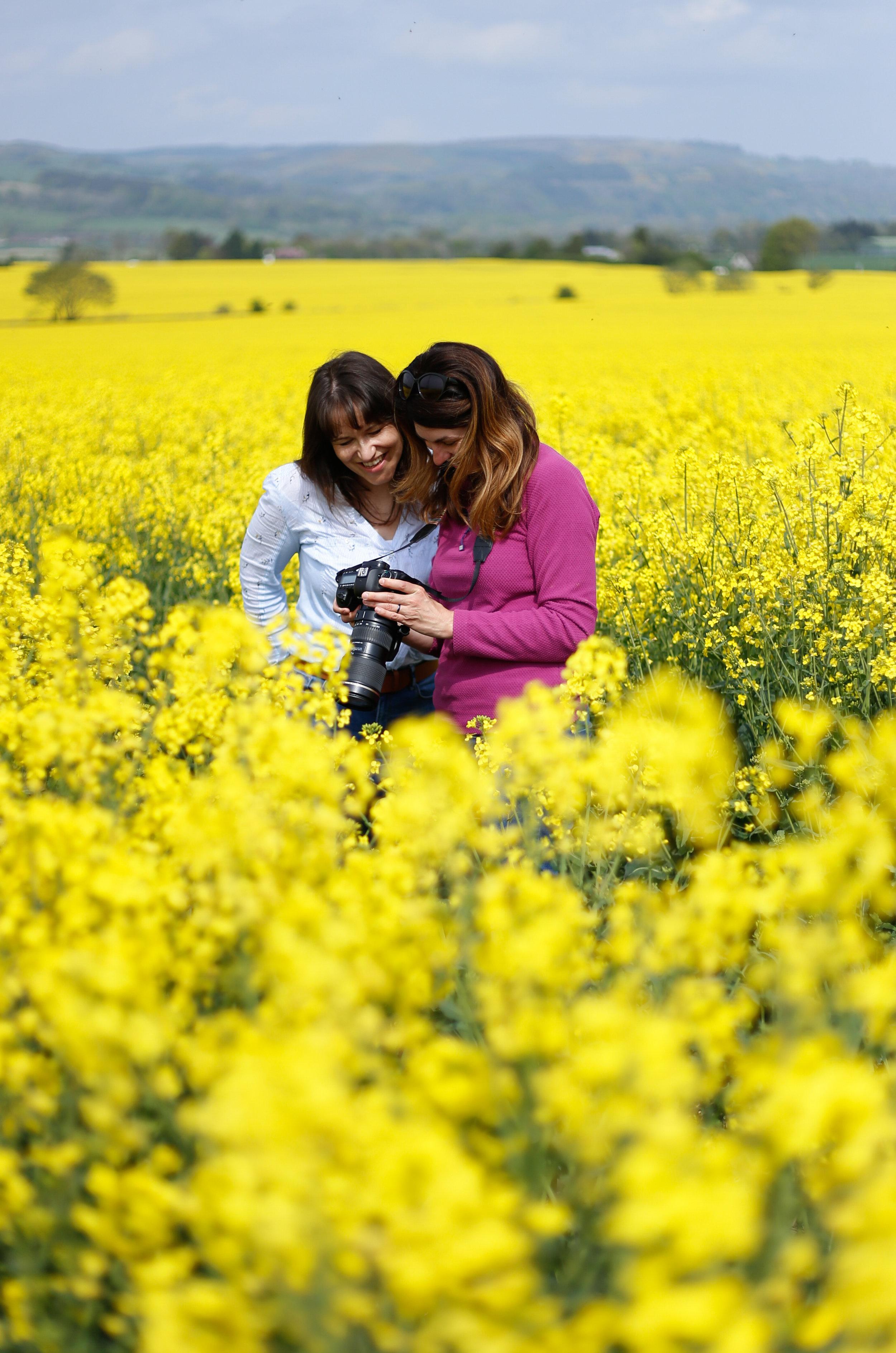 Kristy & Georgina in the Rapeseed Crop