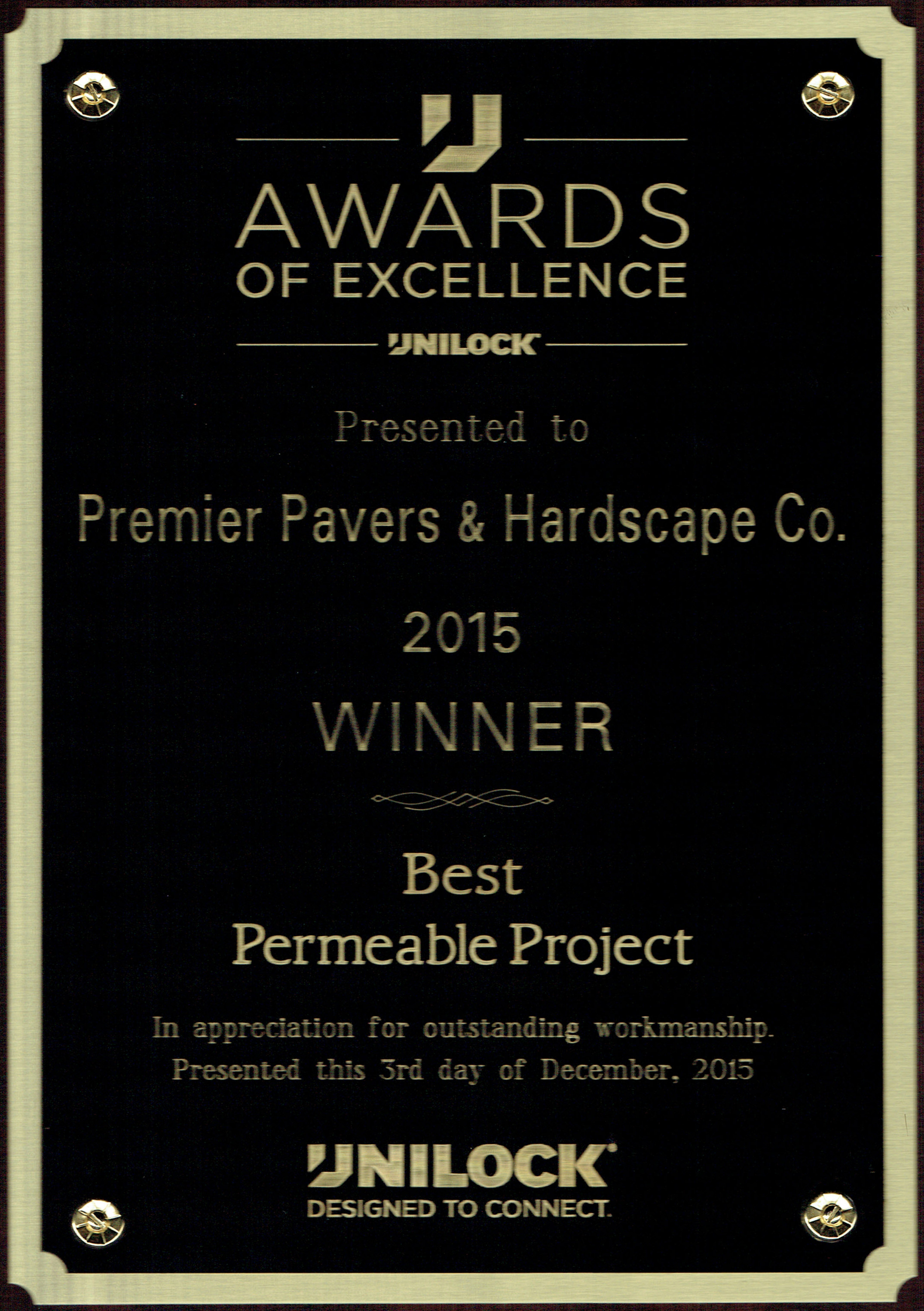Unilock awards of excellence for stunning landscaping work in Lexington, Massachusetts