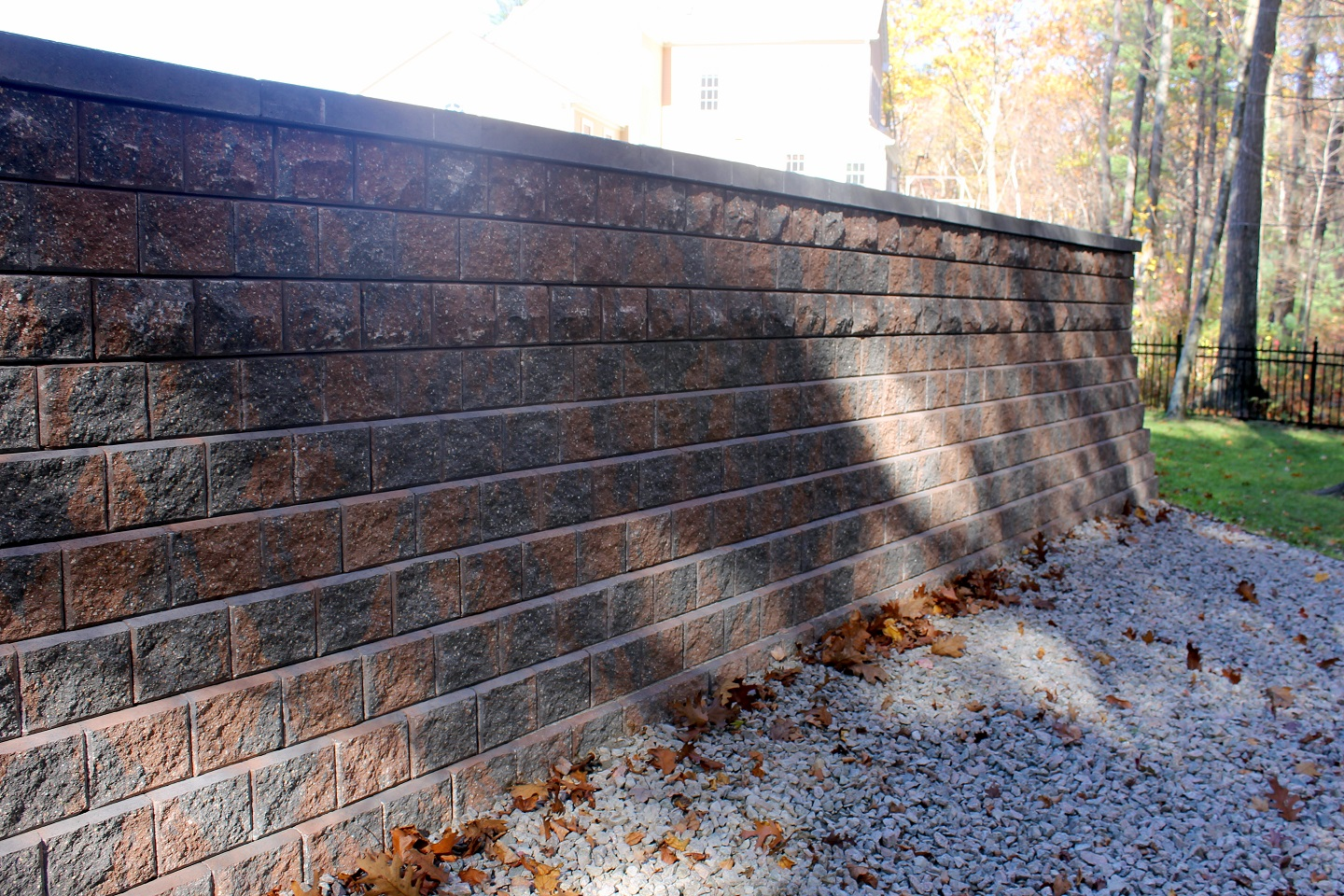 Durable retaining wall in Belmont, MA