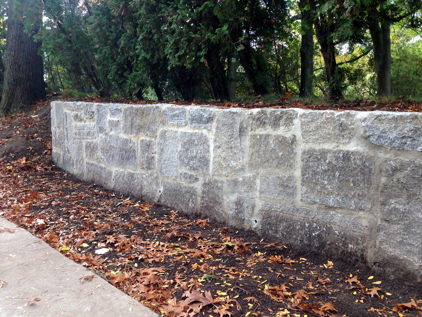 Top quality retaining wall in Lexington, MA