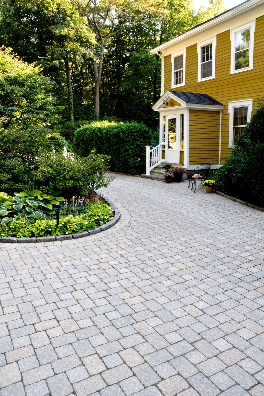 Landscapers near me with top driveway pavers in Newton, MA