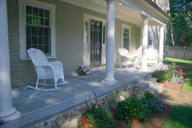 Lexington MA deck builder with top patio pavers
