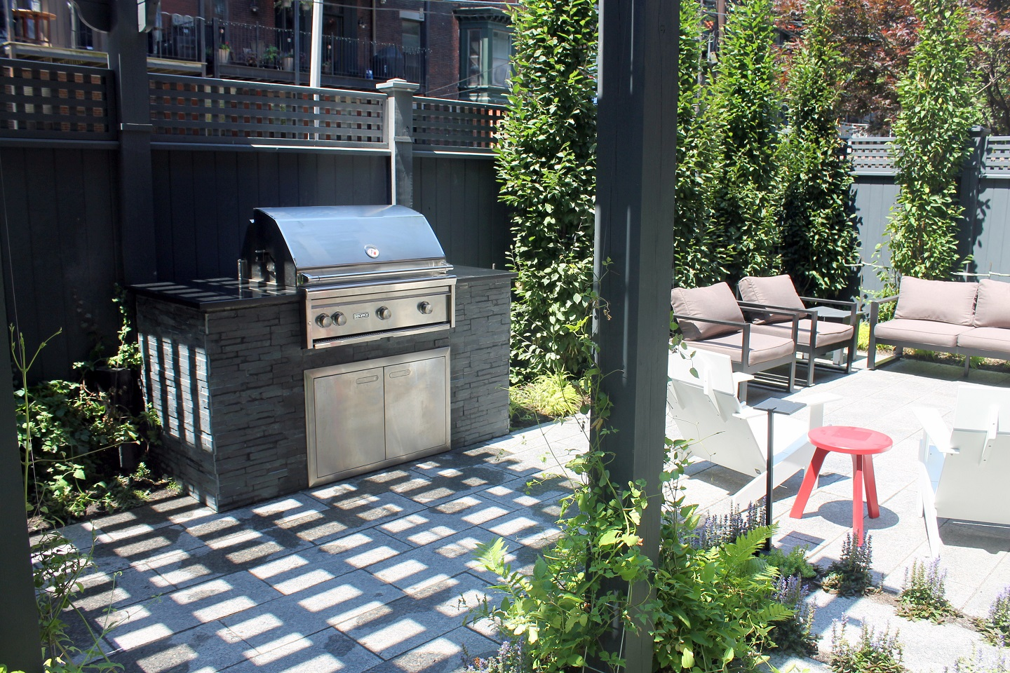 Outdoor kitchen in Cambridge MA