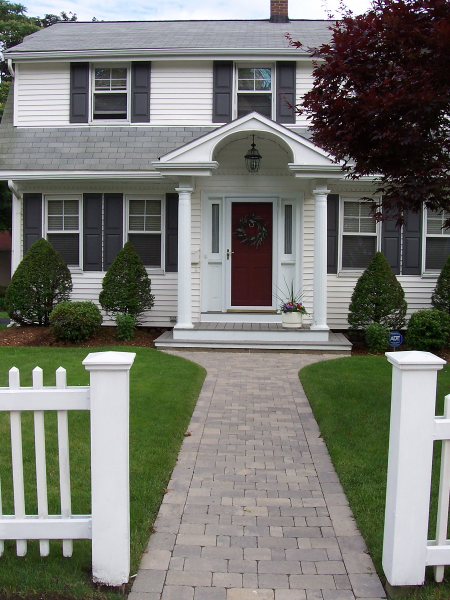 Walkway pavers by Unilock in Newton, MA