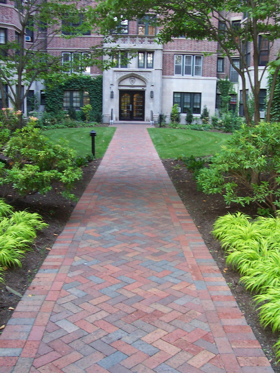 Walkway pavers and outdoor lighting in Wellesley, MA