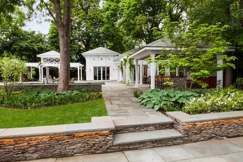 Walkway pavers and retaining wall in Arlington, MA