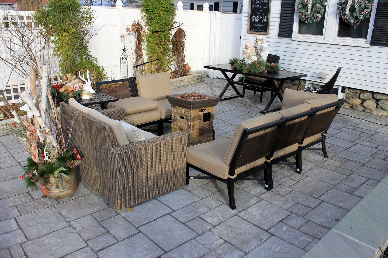 Bluestone patio by Unilock Authorized Conctractor in Lexington, MA