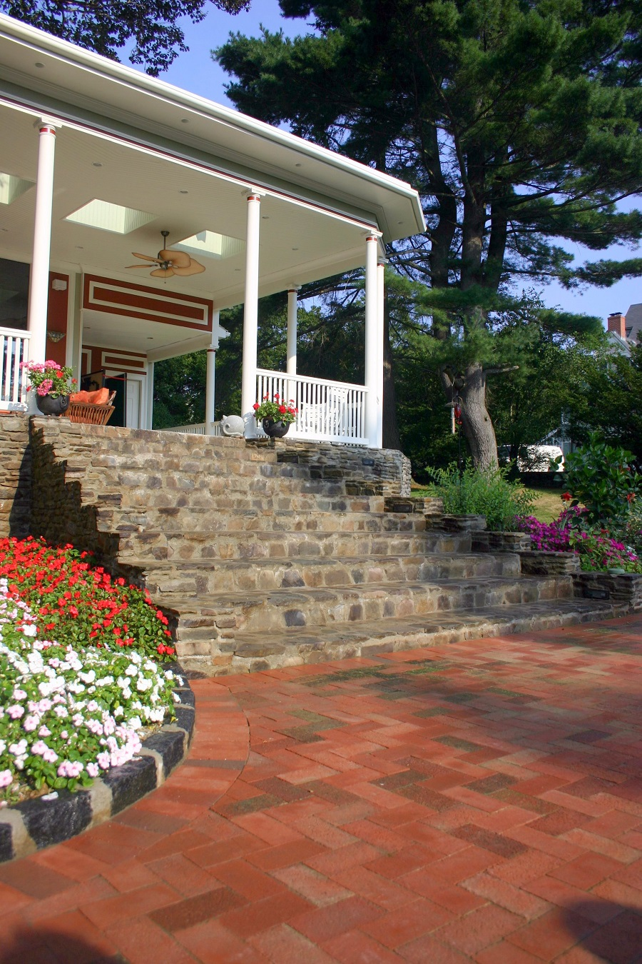 Newton, MA landscapers near me with Unilock walkway pavers