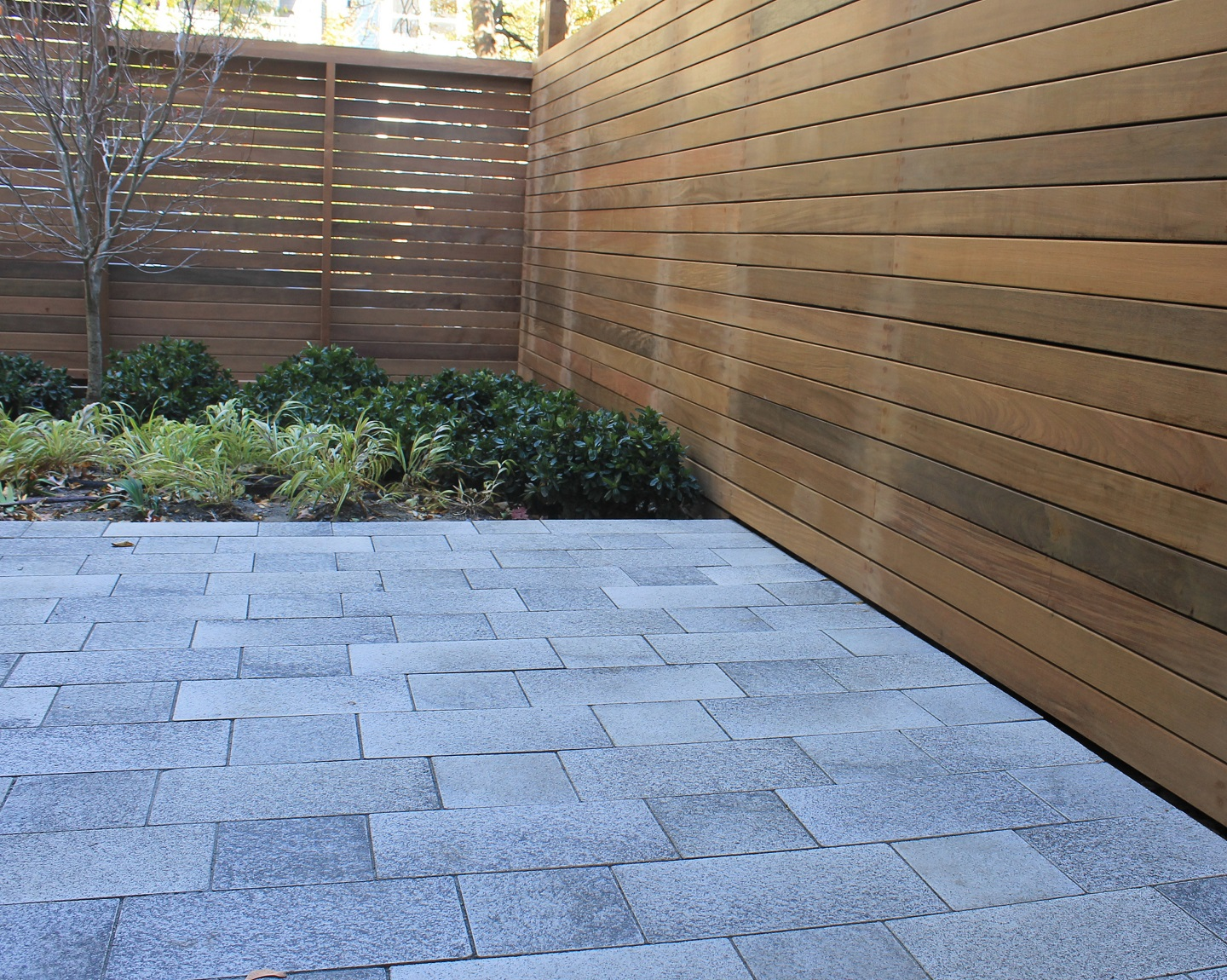 Bluestone patio with top patio pavers in Belmont, MA