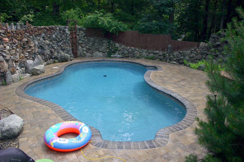 Arlington, MA stunning landscape design with pool deck