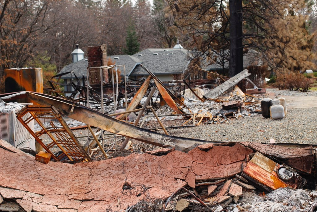 Camp Fire aftermath - Taken at his father's house in Paradise, CA, former SOU student Eli Stillman took pictures of what remained after the Camp Fire.Photo Credit: Eli Stillman