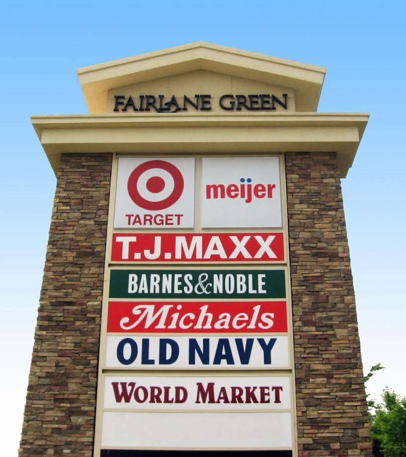 Shopping Center Monument Signage