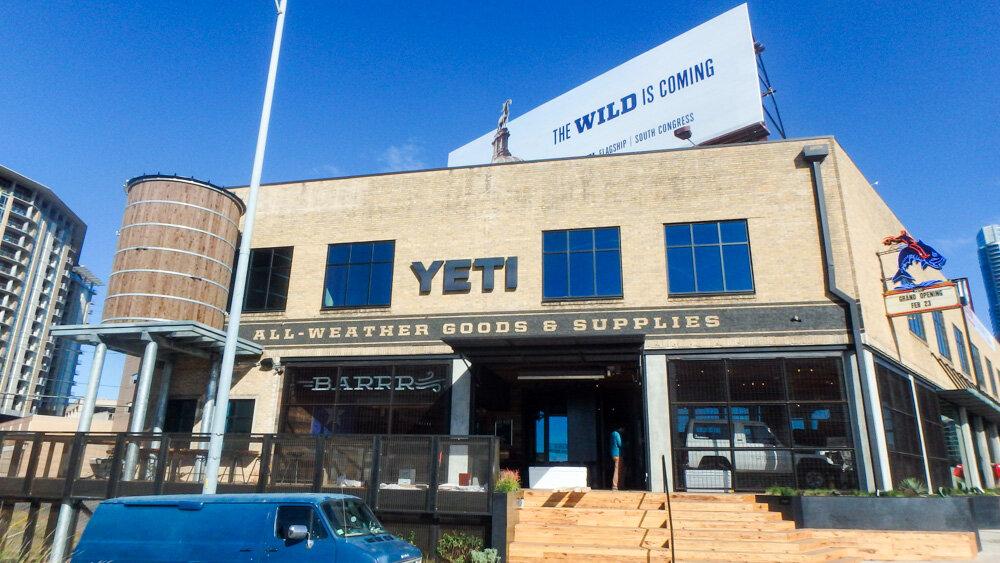 Yeti Flagship with an outdoor bar, Austin