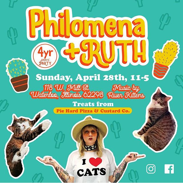 This Sunday we're playing in #waterloo with our pal @bethbombara for @philomenaandruth 's 4 year anniversary!!